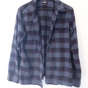 Navy Patagonia Flannel Like New Size 12